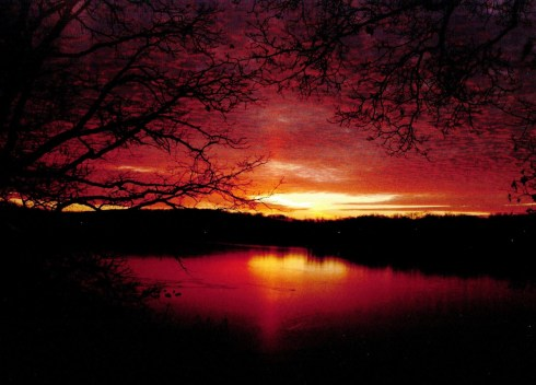Sunrise on St. Mary's Lake