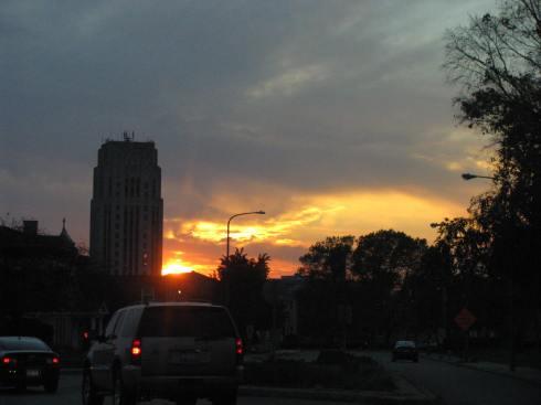 Sunset in Battle Creek, MI